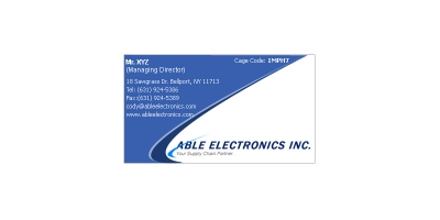Able Eletronix Business Card