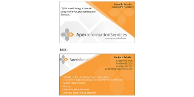 Apex Information Services Business Card