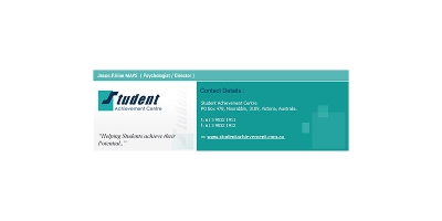 Student Achievement Care Business Card