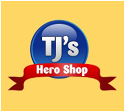 TJ's Hero Shop Logo